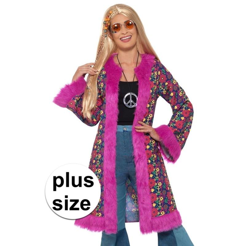 Grote maat hippie peace colbert/jas voor dames