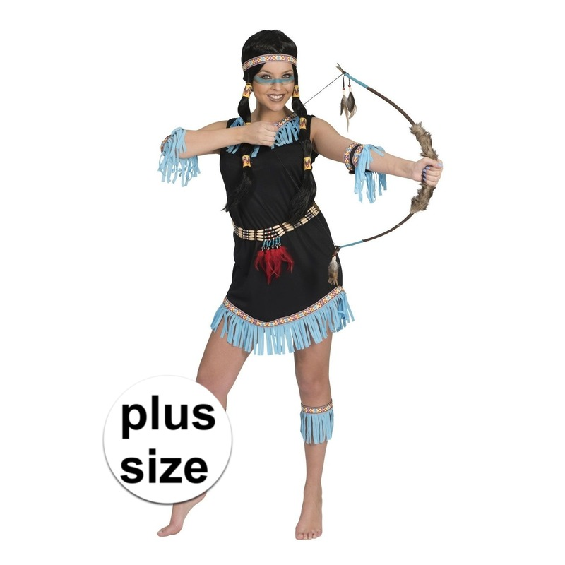 Grote maat Indiaan Amadahy verkleed jurkje voor dames