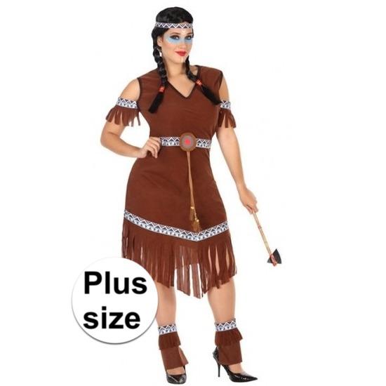 Grote maat Indianen Nahele verkleed pak/kostuum voor dames
