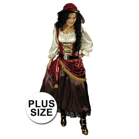 Grote maat piraten jurk met bandana
