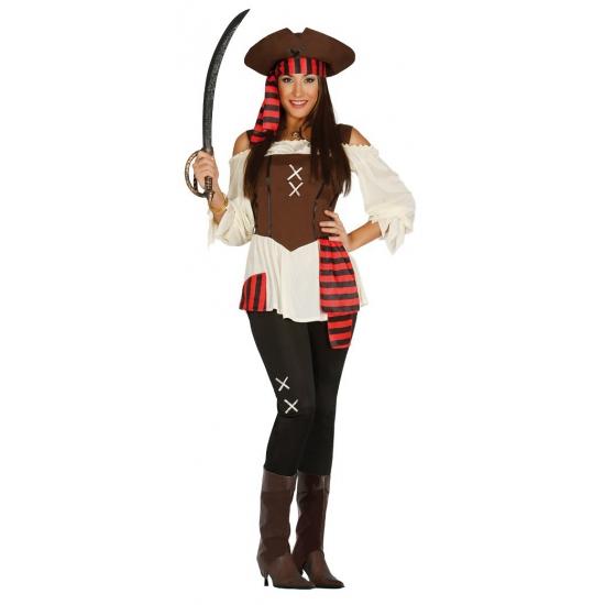 Grote maat piratenpak voor dames