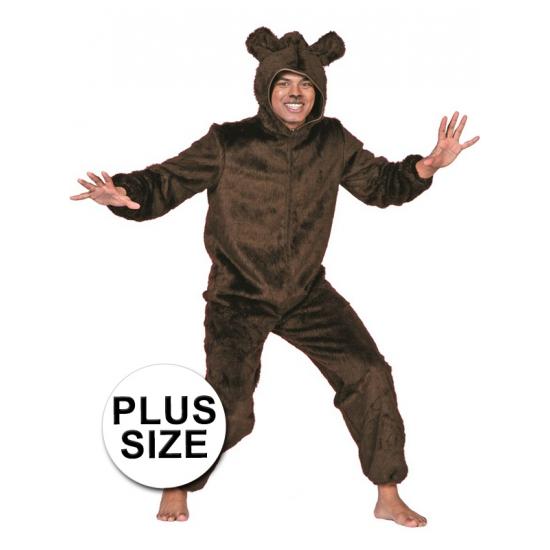 Grote maten berenpak bruin