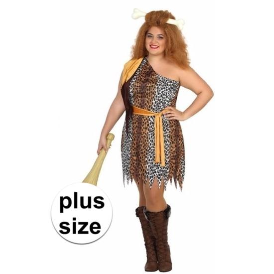 Grote maten holbewoonster kostuum voor dames