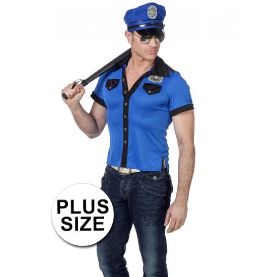 Grote maten politie shirt voor heren