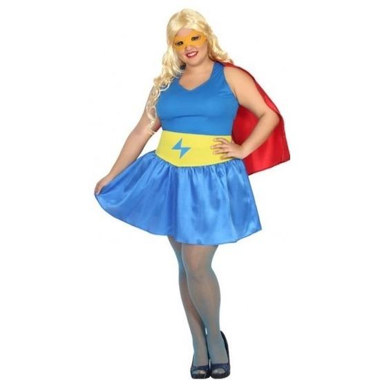 Grote maten supergirl kostuum/jurk voor dames