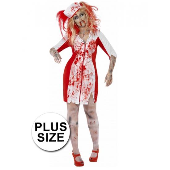 Grote maten zombie zuster jurkje voor dames