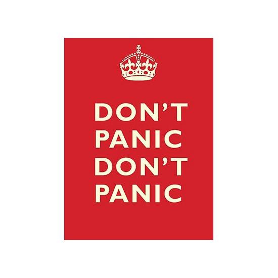 Grote muurplaat Don't Panic 30x40cm