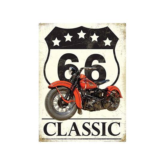 Grote muurplaat Route 66 Classic 30x40cm