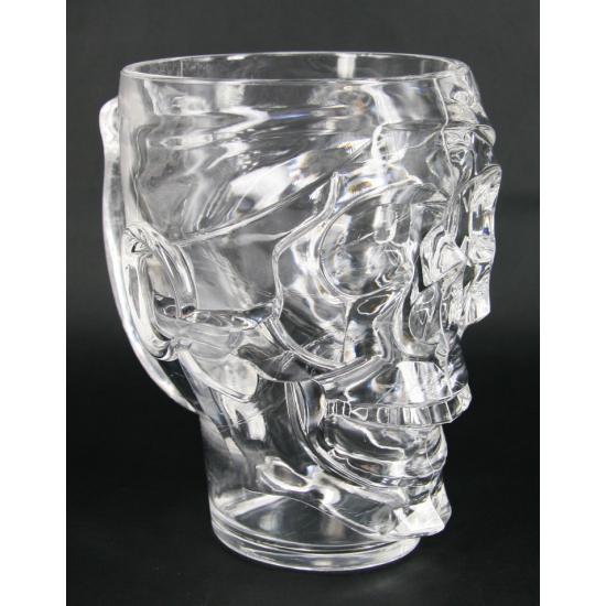 Grote schedel Halloween drinkbeker 22 cm