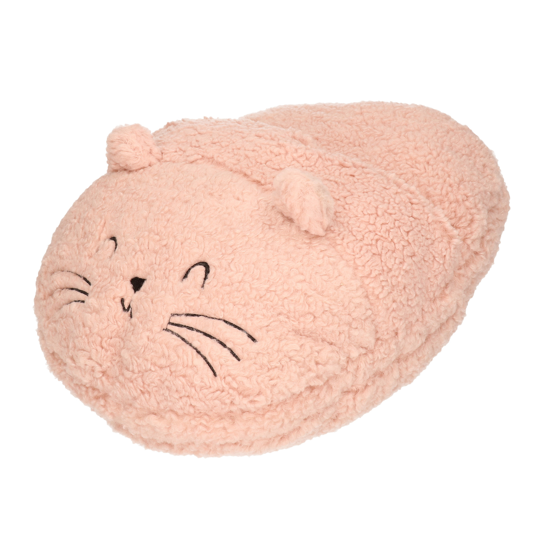 Grote voetenwarmer pantoffel/slof muis oud roze one size 30 x 27 cm One size -
