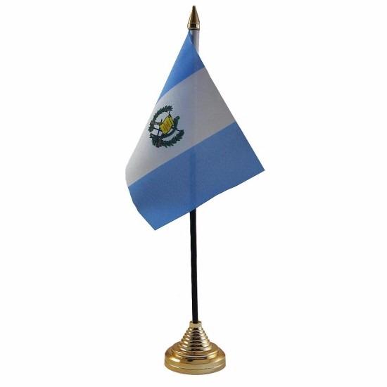 Guatemala tafelvlaggetje 10 x 15 cm met standaard