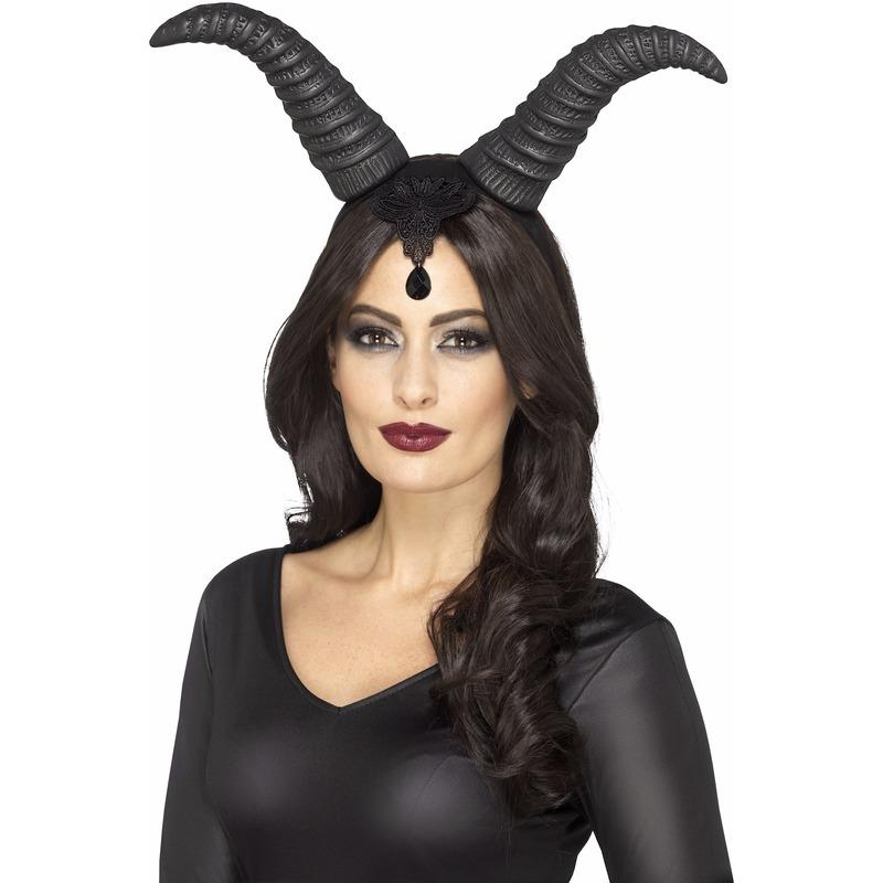 Haarband met demonische hoorns