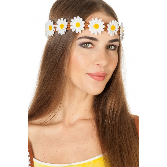 Haarband met margrietjes