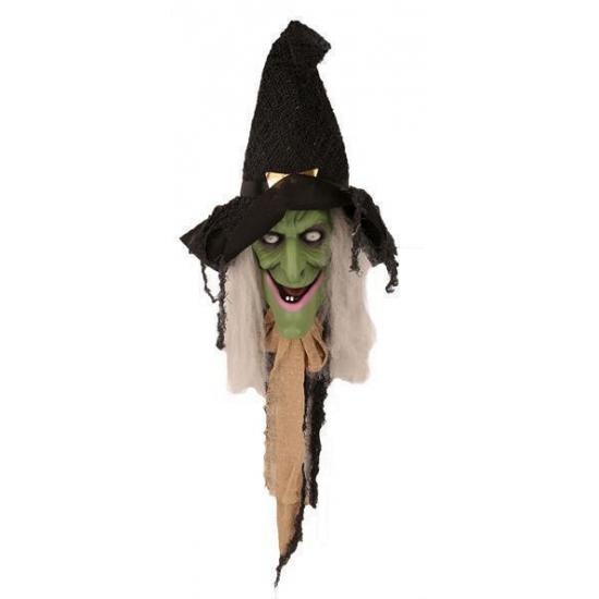 Halloween - Deurversiering lachende heks Halloween decoratie