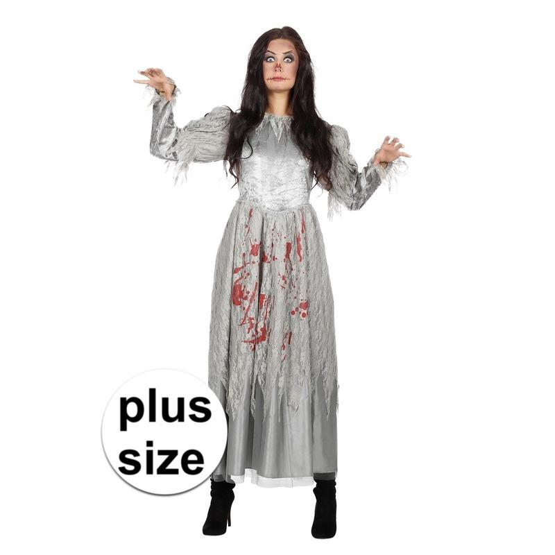Halloween - Grote maat zombie halloween bruidsjurk voor dames