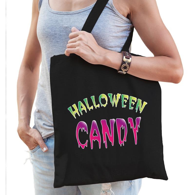 Halloween - Halloween candy snoep tas zwart voor dames