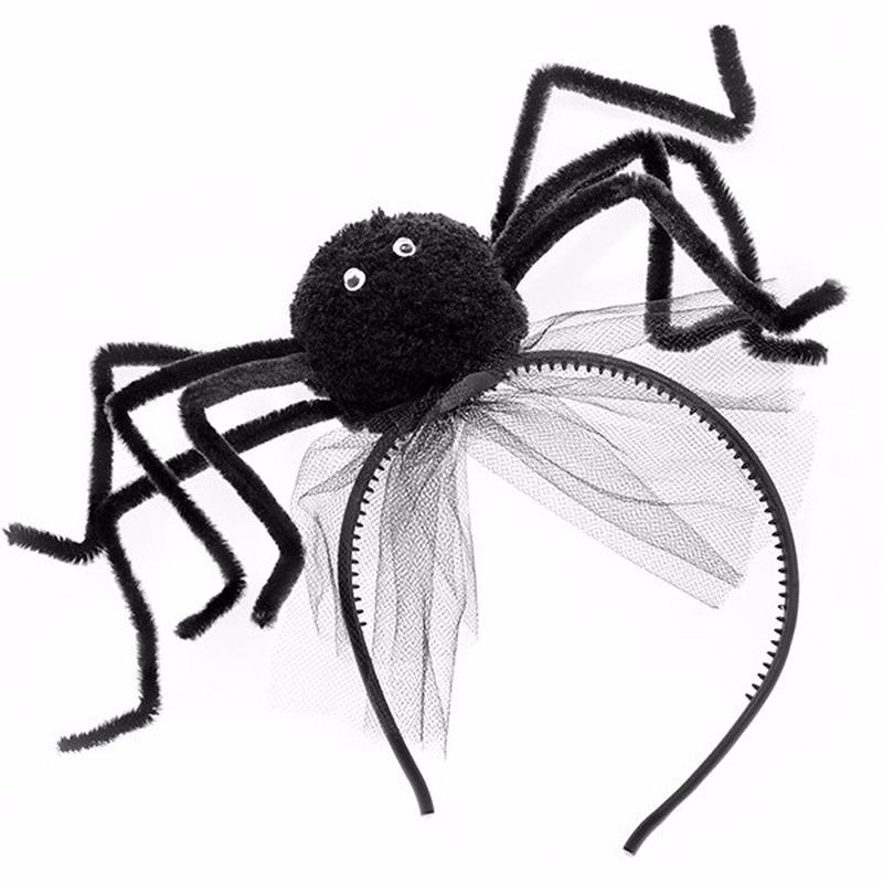 Halloween - Halloween diadeem met zwarte spin