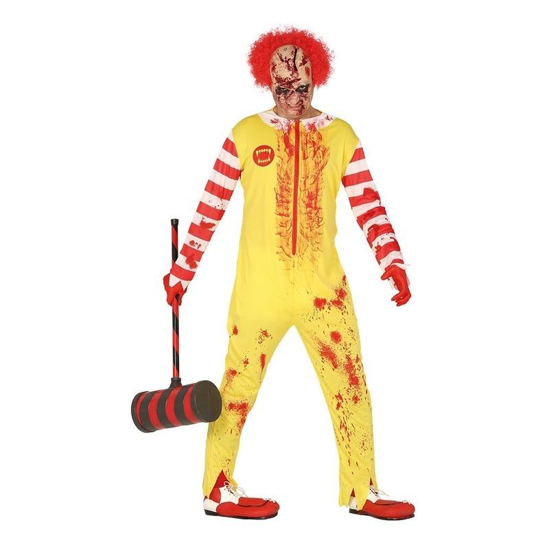 Halloween - Halloween horror clown Ronald verkleed kostuum voor heren