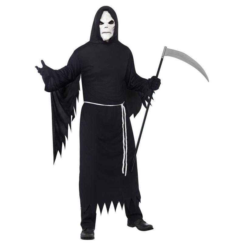 Halloween - Halloween kostuum magere Hein met masker voor volwassenen