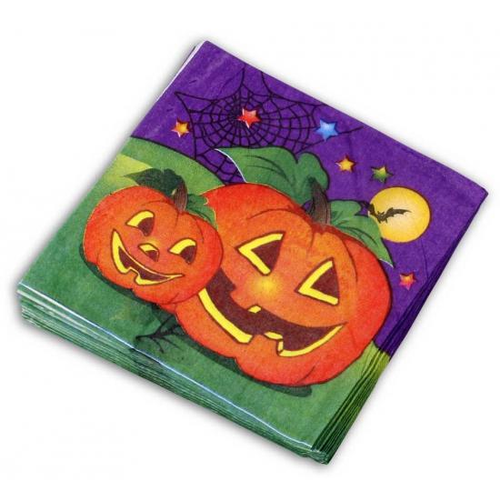 Halloween - Halloween servetten pompoen 20 stuks