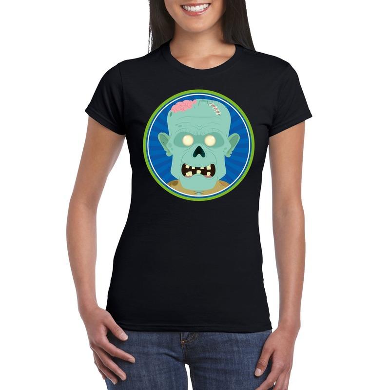 Halloween - Halloween zombie t-shirt zwart dames
