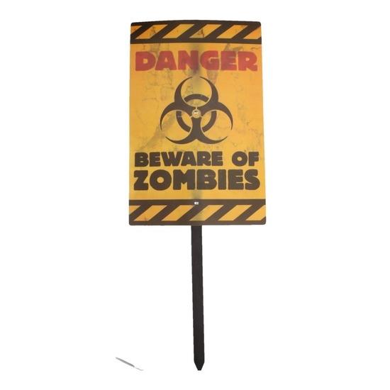 Halloween - Halloween zombie waarschuwingsbord Danger 38 cm