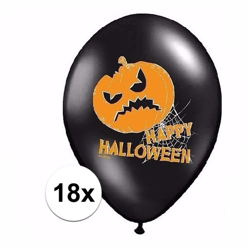 Halloween - Happy Halloween ballonnen 18 stuks