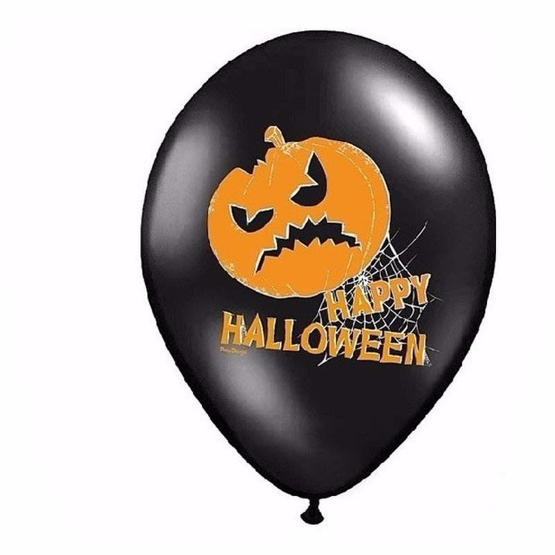 Halloween - Happy Halloween ballonnen 6 stuks
