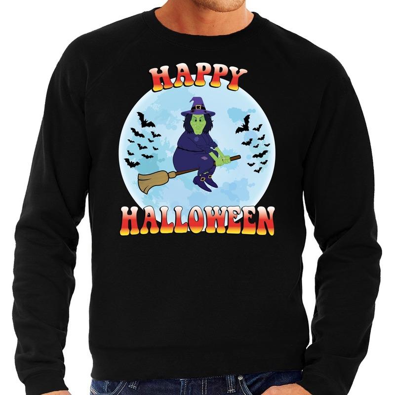 Halloween - Happy Halloween heks verkleed sweater zwart voor heren