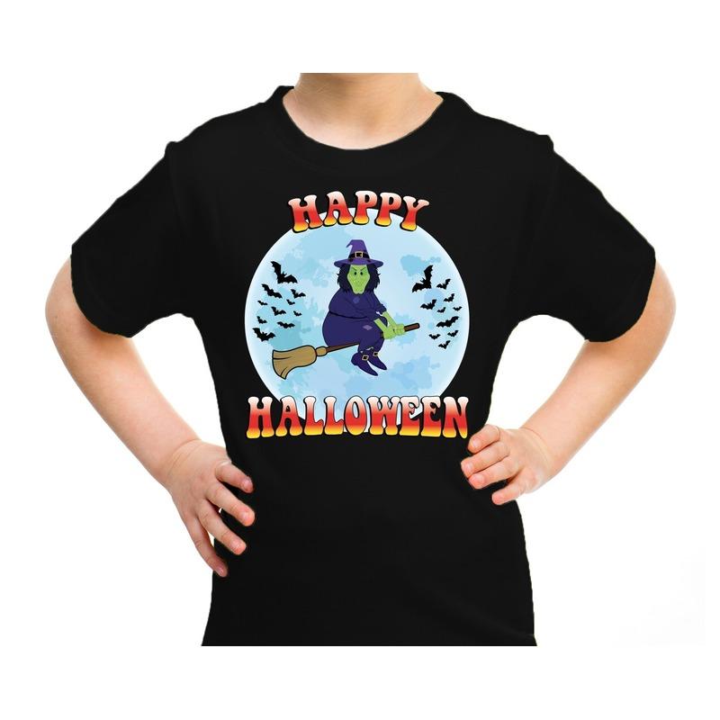 Halloween - Happy Halloween heks verkleed t-shirt zwart voor kinderen