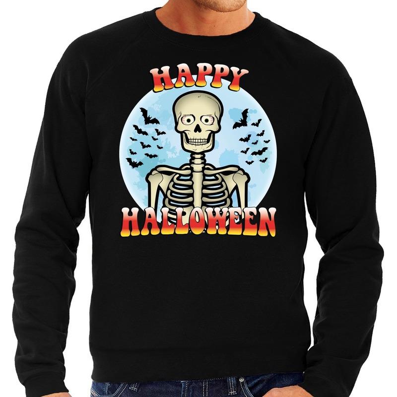 Halloween - Happy Halloween skelet verkleed sweater zwart voor heren