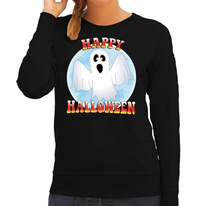 Halloween - Happy Halloween spook verkleed sweater zwart voor dames