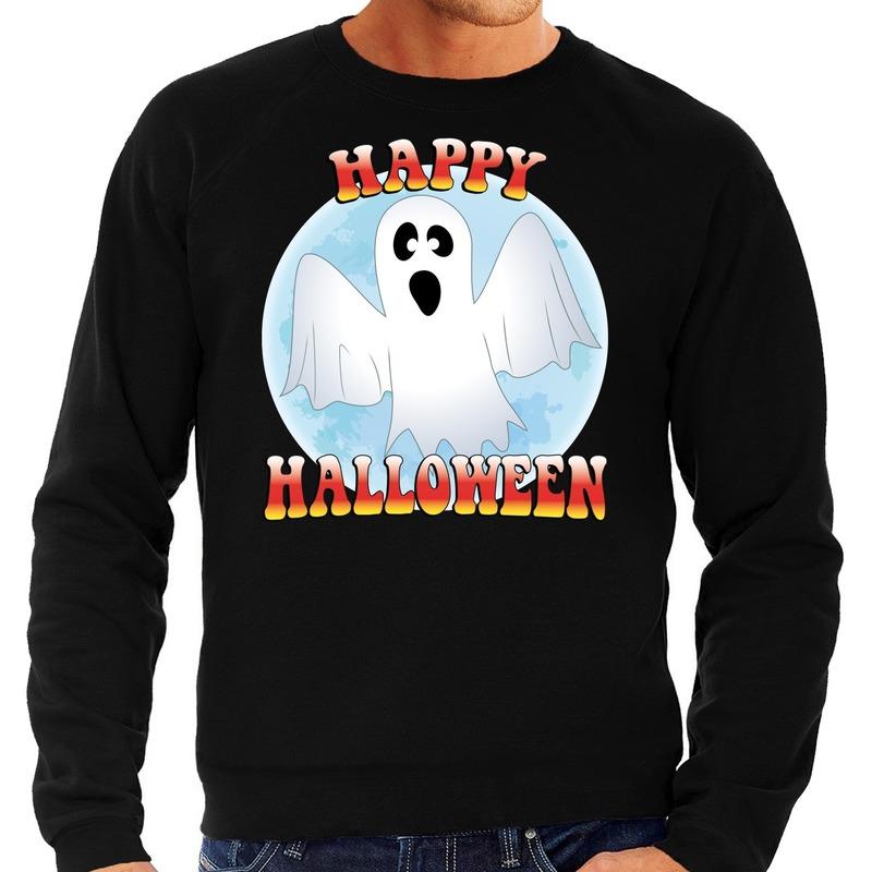 Halloween - Happy Halloween spook verkleed sweater zwart voor heren