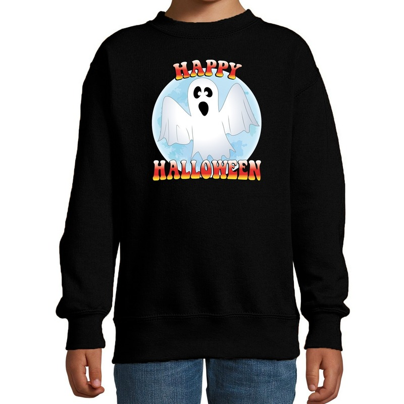 Halloween - Happy Halloween spook verkleed sweater zwart voor kinderen