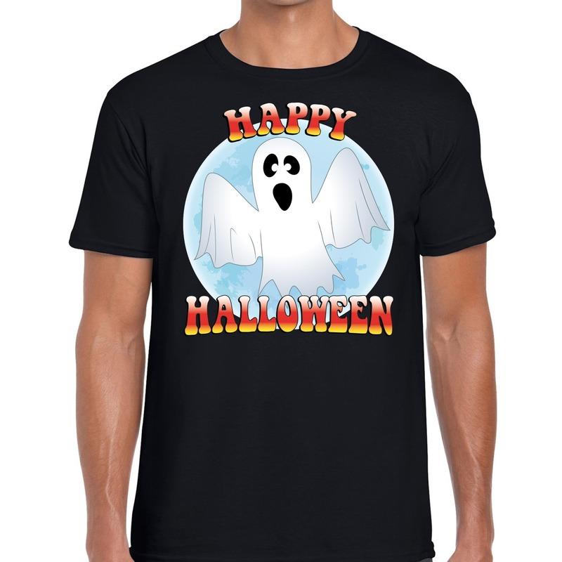 Halloween - Happy Halloween spook verkleed t-shirt zwart voor heren