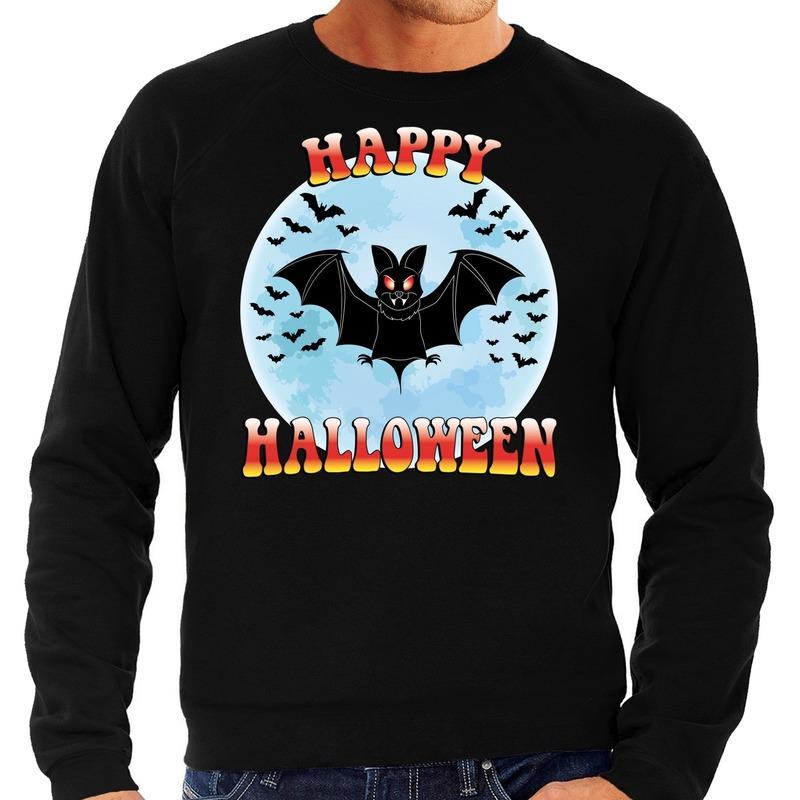Halloween - Happy Halloween vleermuis verkleed sweater zwart voor heren