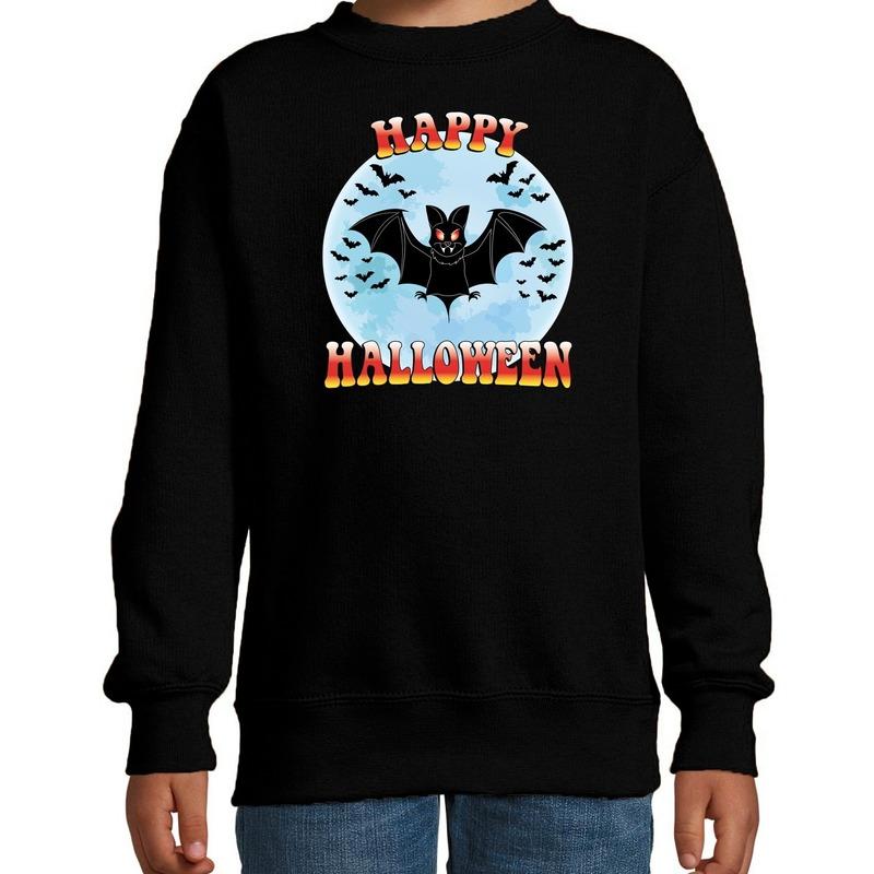 Halloween - Happy Halloween vleermuis verkleed sweater zwart voor kinderen