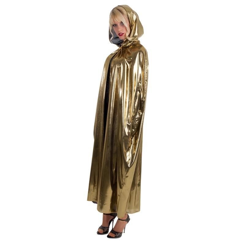 Halloween - Horror cape/mantel goud voor volwassenen
