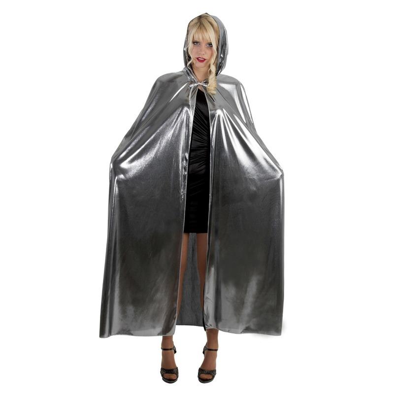 Halloween - Horror cape/mantel zilver voor volwassenen