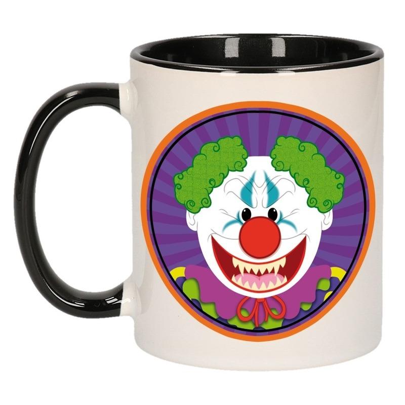Halloween horror clown mok - beker 300 ml