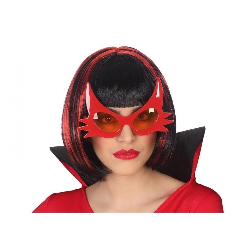 Halloween - Horror duivel verkleed bril rood voor volwassenen