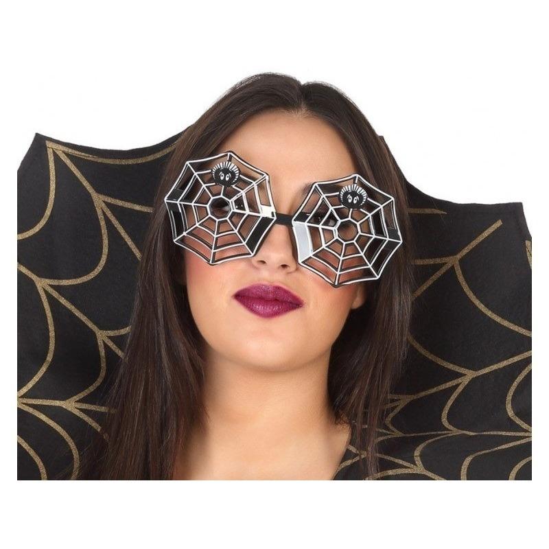 Halloween - Horror spinnenweb verkleed bril voor volwassenen