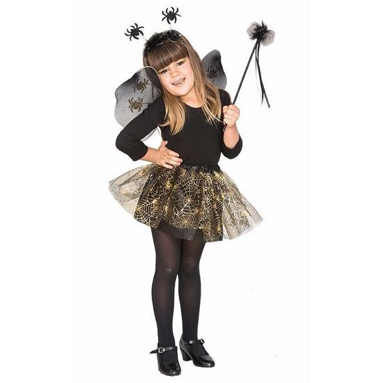 Halloween kostuum Heksenset zwarte spin voor meisjes