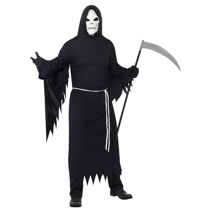 Halloween kostuum magere Hein met masker voor volwassenen