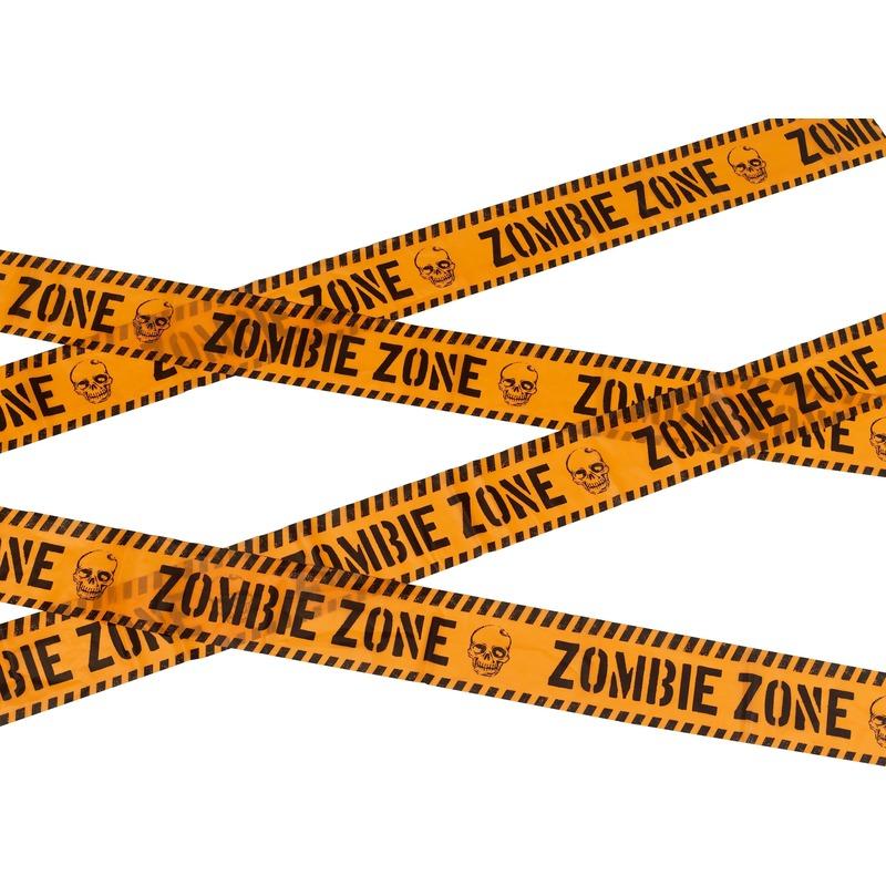 Halloween - Markeerlint Halloween Zombie zone 6 meter