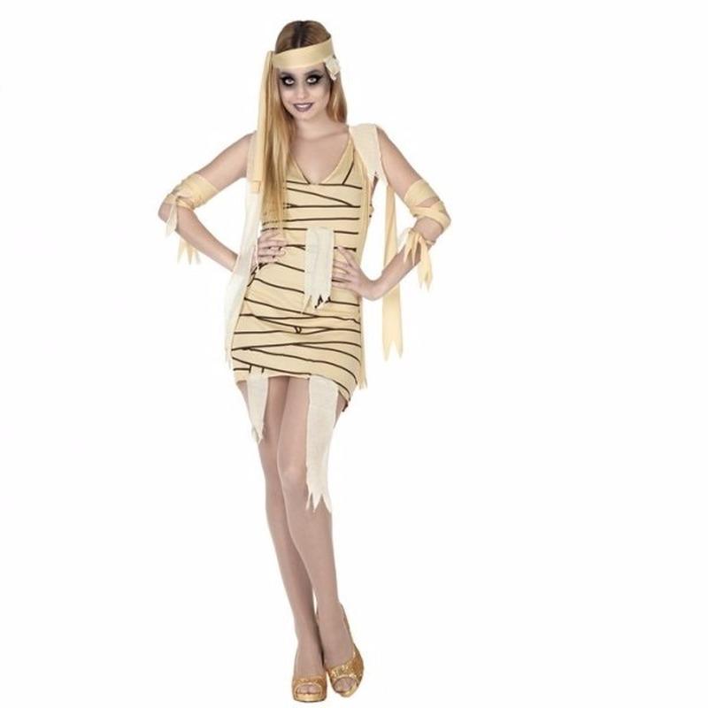 Halloween mummie jurkje voor dames