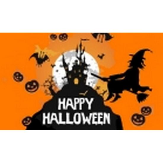 Halloween - Oranje halloween vlag 150 x 90 cm