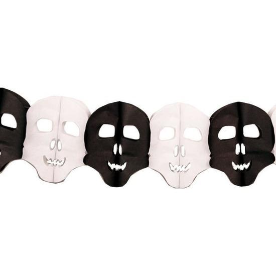 Halloween - Papieren Halloween doodshoofd slinger 6 meter