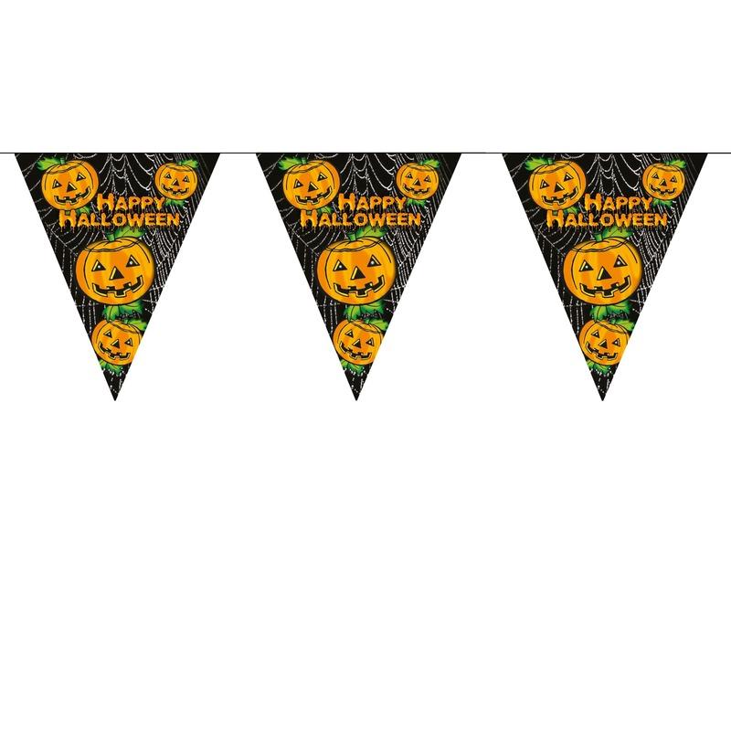 Halloween - Pompoenen vlaggenlijn 5 meter Halloween decoratie