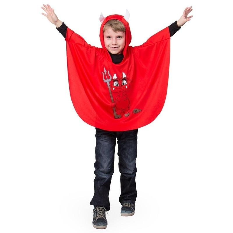 Halloween - Rode duivel verkleed cape voor kinderen